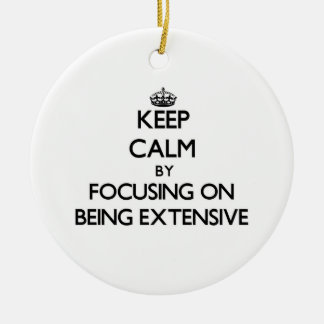 Keep Calm by focusing on BEING EXTENSIVE Ornament