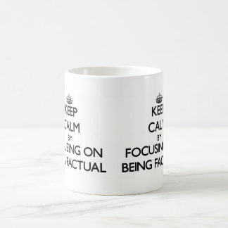 Keep Calm by focusing on Being Factual Classic White Coffee Mug