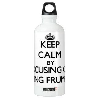 Keep Calm by focusing on Being Frumpy SIGG Traveler 0.6L Water Bottle