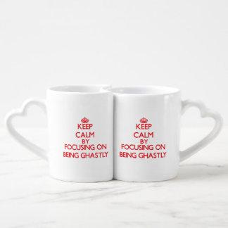 Keep Calm by focusing on Being Ghastly Lovers Mug Sets