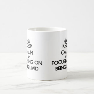 Keep Calm by focusing on Being Livid Mug
