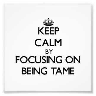 Keep Calm by focusing on Being Tame Photo Print