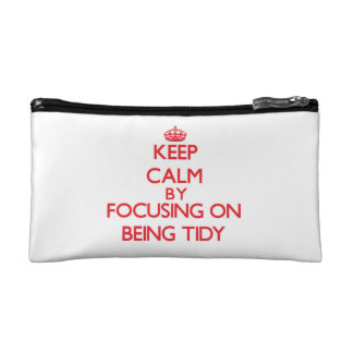 Keep Calm by focusing on Being Tidy Makeup Bag