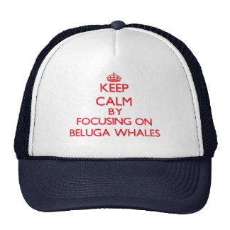 Keep calm by focusing on Beluga Whales Hats