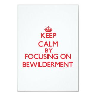 Keep Calm by focusing on Bewilderment Custom Announcement