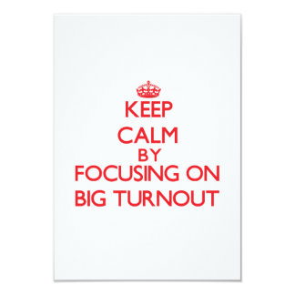 Keep Calm by focusing on Big Turnout Invitation
