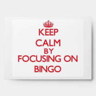 Keep Calm by focusing on Bingo Envelopes