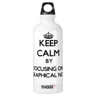 Keep Calm by focusing on Biographical Novels SIGG Traveler 0.6L Water Bottle
