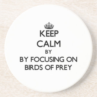 Keep calm by focusing on Birds Of Prey Drink Coasters