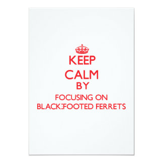 Keep calm by focusing on Black-Footed Ferrets 5x7 Paper Invitation Card