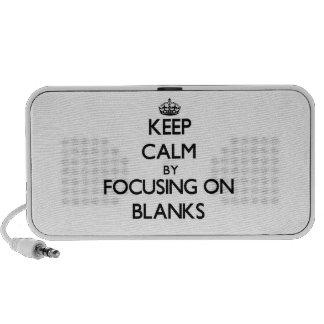 Keep Calm by focusing on Blanks Travel Speaker