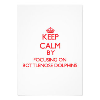Keep calm by focusing on Bottlenose Dolphins Cards