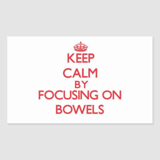 Keep Calm by focusing on Bowels Rectangle Sticker