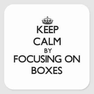 Keep Calm by focusing on Boxes Square Sticker