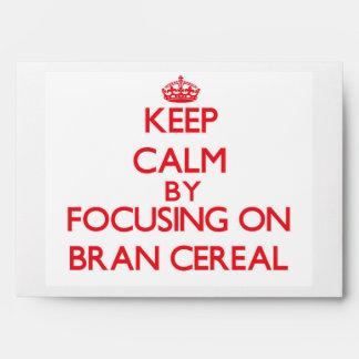 Keep Calm by focusing on Bran Cereal Envelope