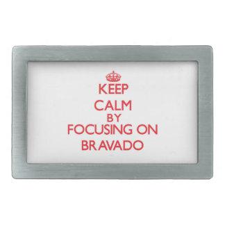 Keep Calm by focusing on Bravado Rectangular Belt Buckle