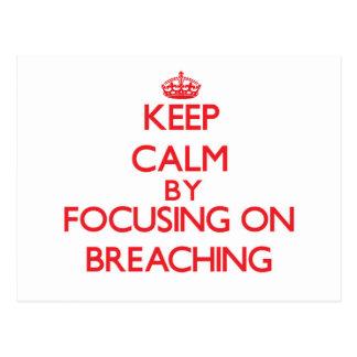 Keep Calm by focusing on Breaching Postcard