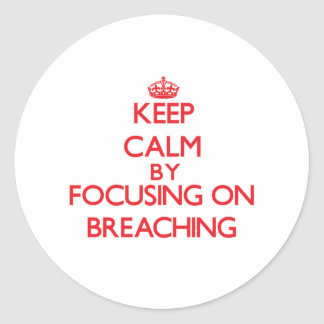 Keep Calm by focusing on Breaching Round Stickers