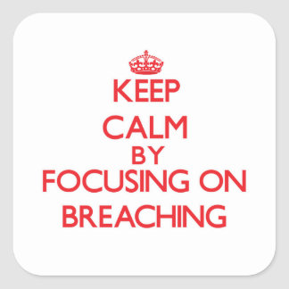 Keep Calm by focusing on Breaching Square Stickers