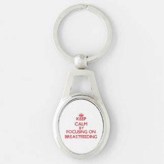 Keep Calm by focusing on Breastfeeding Key Chains