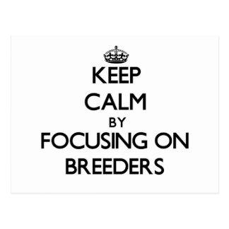 Keep Calm by focusing on Breeders Postcard