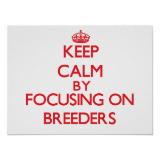 Keep Calm by focusing on Breeders Poster