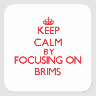 Keep Calm by focusing on Brims Square Sticker