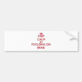 Keep Calm by focusing on Brine Bumper Sticker