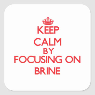 Keep Calm by focusing on Brine Square Sticker