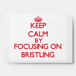 Keep Calm by focusing on Bristling Envelope