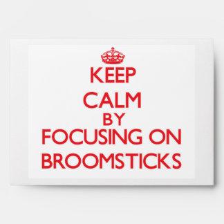 Keep Calm by focusing on Broomsticks Envelope