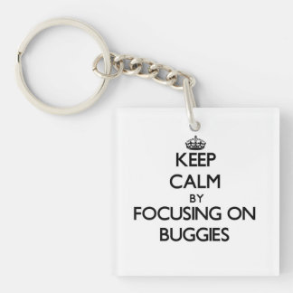 Keep Calm by focusing on Buggies Single-Sided Square Acrylic Keychain