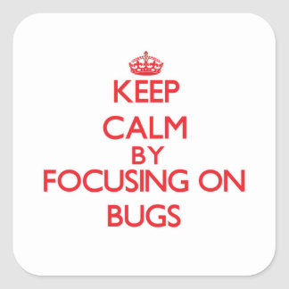 Keep Calm by focusing on Bugs Sticker