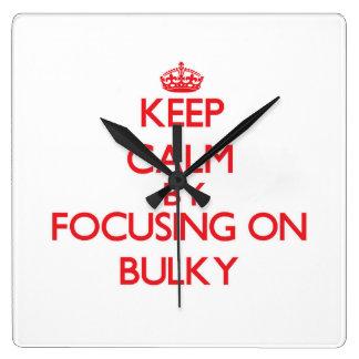 Keep Calm by focusing on Bulky Wall Clock