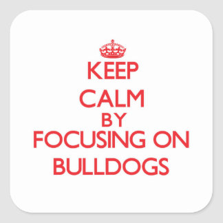 Keep Calm by focusing on Bulldogs Square Sticker