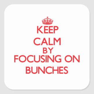 Keep Calm by focusing on Bunches Stickers