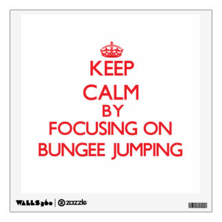 Keep Calm by focusing on Bungee Jumping Room Stickers