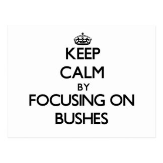 Keep Calm by focusing on Bushes Postcards