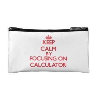 Keep Calm by focusing on Calculator Cosmetics Bags