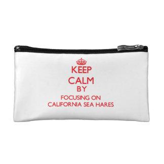 Keep calm by focusing on California Sea Hares Makeup Bag