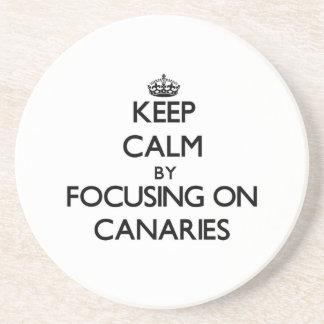 Keep Calm by focusing on Canaries Drink Coasters