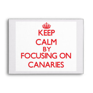 Keep Calm by focusing on Canaries Envelope