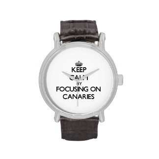 Keep Calm by focusing on Canaries Wrist Watches