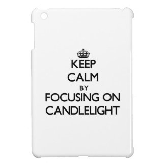 Keep Calm by focusing on Candlelight iPad Mini Case