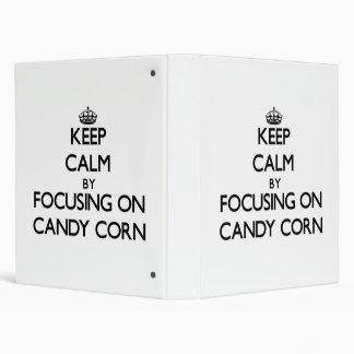 Keep Calm by focusing on Candy Corn Vinyl Binder