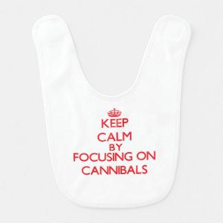 Keep Calm by focusing on Cannibals Bib