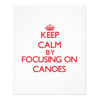 Keep Calm by focusing on Canoes Custom Flyer