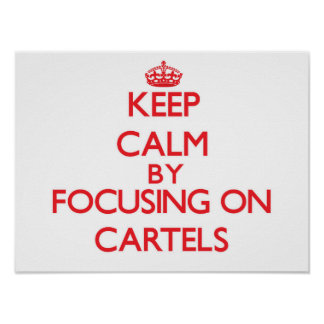 Keep Calm by focusing on Cartels Poster