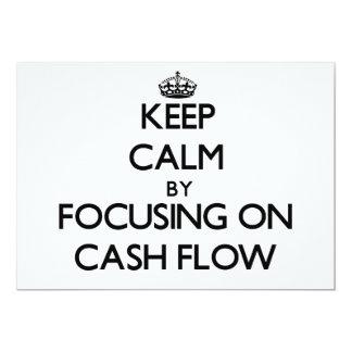"Keep Calm by focusing on Cash Flow 5"" X 7"" Invitation Card"