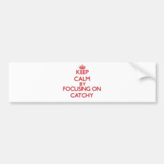 Keep Calm by focusing on Catchy Car Bumper Sticker